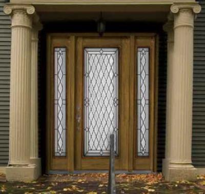 Oak Grain Fiberglass Door & Fiberglass Doors - Oak Grain Fiberglass Door